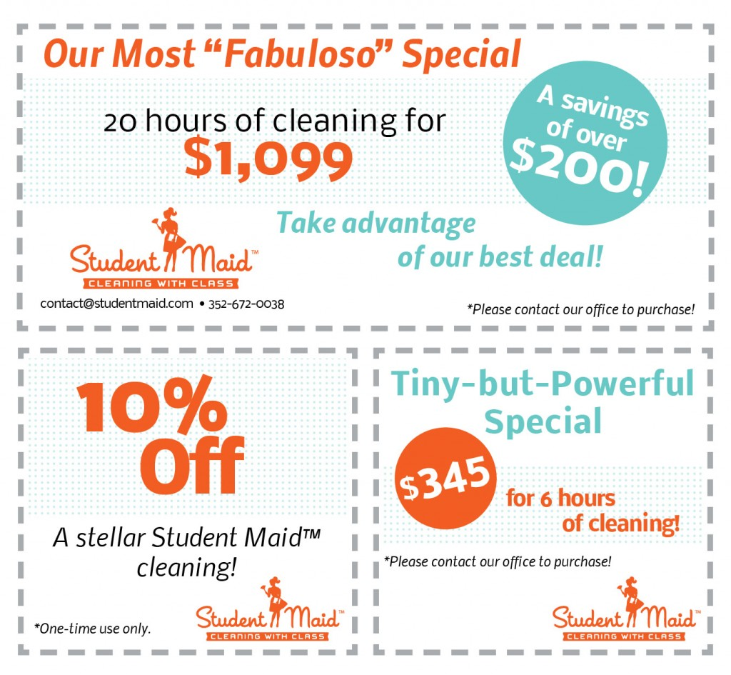 Student Maid Special Deals